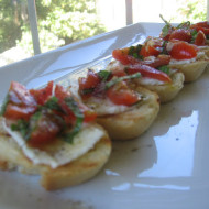 Porch Time Treat…Caprese Bruschetta