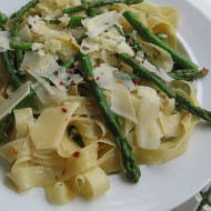 Workspace Reorganization…Fettuccine with Browned Butter, Asparagus & Garlic