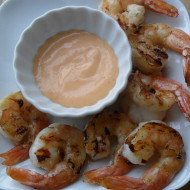 Pan Grilled Shrimp with Sriracha Mayonnaise