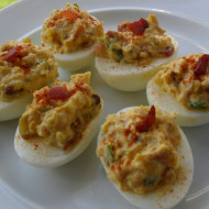 Shrimp & Bacon Deviled Eggs