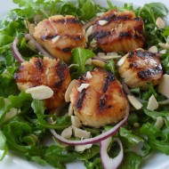 Saucy Mama Pan Asian Grilled Scallop Salad & Giveaway