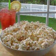 Porch Time Treat…Popcorn with Clarified Butter, Black Truffle Salt & Parmesan