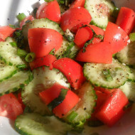 Refreshing Cucumber & Tomato Salad…Great Dish For Summer Buffets