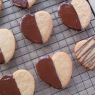 Browned Butter Sugar Cookies…Chocolated Dipped!