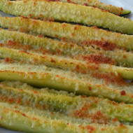 Zucchini Wedges with Parmesan and Garlic