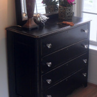 Black Foyer Chest…Painted Furniture Project