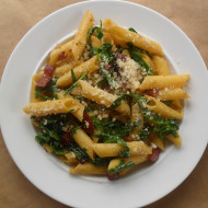 Penne with Bacon & Arugula
