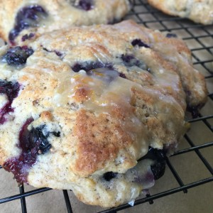 Blueberry Scones with Orange Glaze and The Very Unintended Sabbatical